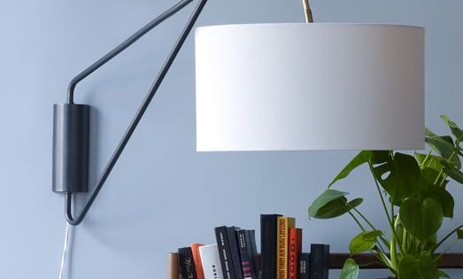 Mid-Century Overarching Wall Sconce west elm Light Me Up Pinterest Wall sconces and Mid ...