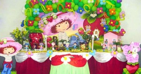 fiesta para nina de tema rosita fresita decoracion de globos fiestaideas com x