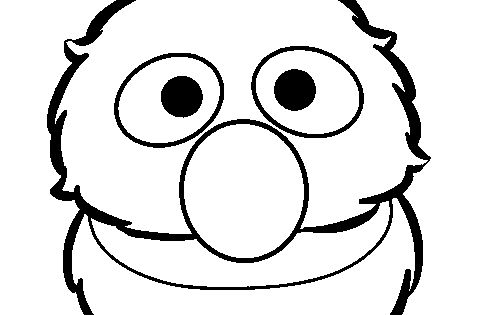 Grover Face Coloring Page related Keywords and Tags