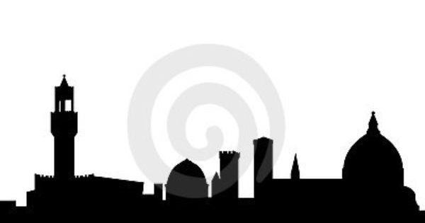 Italy vector Skyline separate buildings Florence Italy clip art silhouette Florence SVG Florence landmark