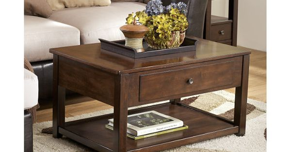 Brown Marion Coffee Table By Ashley HomeStore Brown Dark Brown And