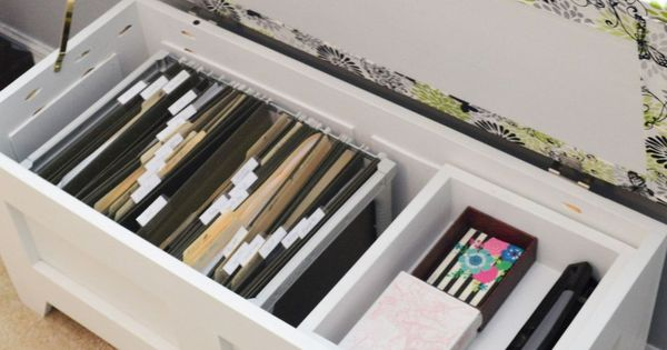 Diy File Storage Bench Storage Benches Benches And Bench
