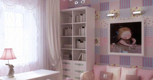 Cuadro en la pared de la habitaci n de la ni a - Cuadros para habitaciones de ninas ...