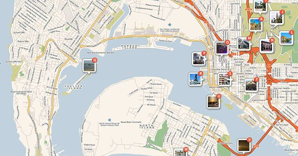 San Diego Attractions Printable Map Download A Printable