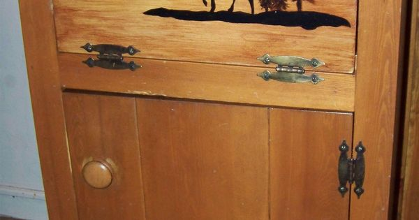 Refinished Cabinet Door To Match Kitchen Decor And Original Wood