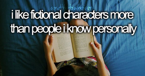 Fictional characters vs. Real people