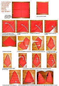 Pliage Serviette Papier Noel Sapin Idees