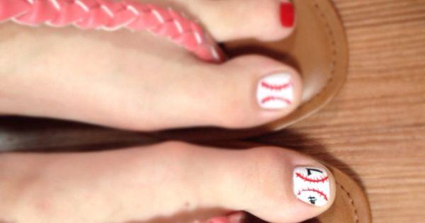 cute toes baseball