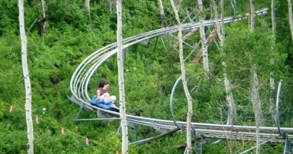 Alpine Coaster Park City Utah You Can Ride Winter Or Summer Hmm Might Shake Up My Level Of Comfort But I Think Alpine Coaster Park City Mountain Park City