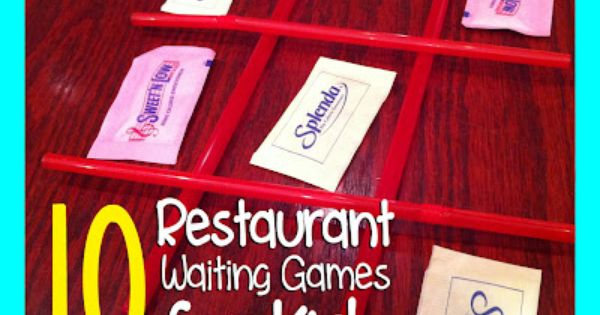 What a fabulous idea for a post... 10 Restaurant Waiting Games for