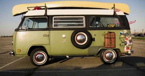 hippie van parked at the beach vw t2 pinterest vw. Black Bedroom Furniture Sets. Home Design Ideas