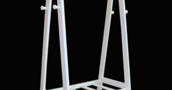 garderobenst nder kleiderst nder rollgarderobe holz wei. Black Bedroom Furniture Sets. Home Design Ideas