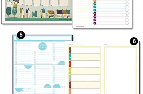 Free printable weekly planners, menu planners, cleaning checklists & blog planners.
