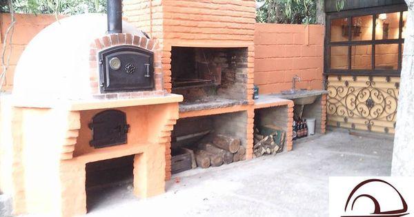 Cocina exterior con horno y barbacoa de ladrillo hornos - Cocinas con horno de lena ...