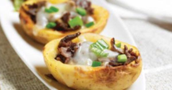 Philly Cheesesteak Potato Skins | Get in my belly! | Pinterest ...