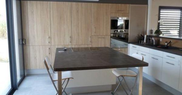 Cuisine design moderne - Aménagement de la pièce en l - Matière ...