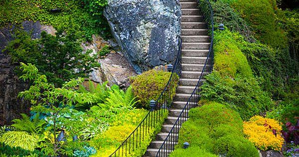Butchart Gardens Stairs near Victoria, BC via Carla Snelling