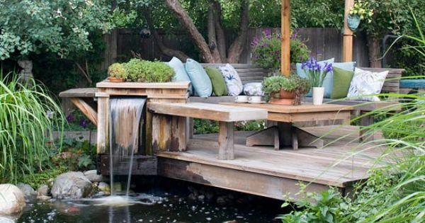 idée de ce jardin design ? laménagement dune terrasse en bois ...