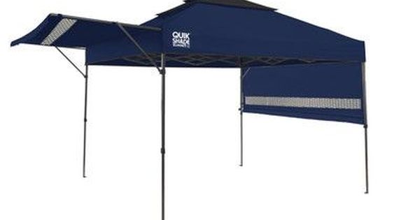 Quikshade Summit 10 Ft W X 17 Ft D Metal Pop Up Canopy Wayfair In 2020 Instant Canopy Canopy Shelter Canopy