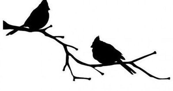 Family Of Cardinal Birds Perching Silhouette Sticker Car