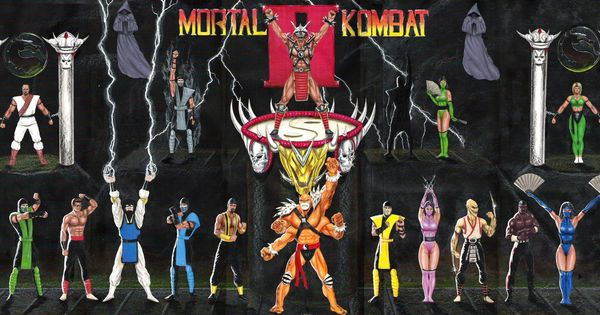 Mortal Kombat 2 MK MK2 Game Wall Cloth Poster 53x24 ...