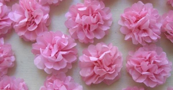 Zakka Life How To Tiny Delicate Tissue Flowers Tissue Paper Flowers Diy Tissue Paper Flowers Tissue Flowers