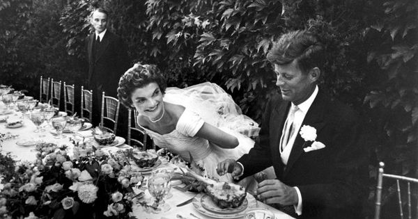future first lady jacqueline bouvier kennedy and sen. john kennedy at their