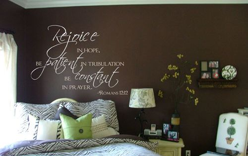 good wall decal, and love the wall color.