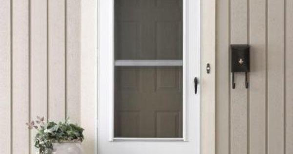 Emco 34 In X 80 In 200 Series White Universal Triple Track Aluminum Storm Door E2tt 34wh Aluminum Storm Doors Home Depot Doors Storm Door