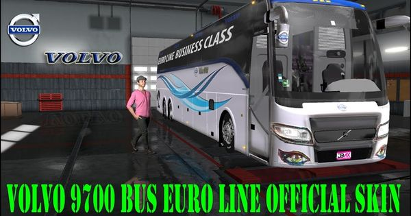 Ets2 Mods Volvo 9700 Bus Euro Line Official Bus Skin And Bus