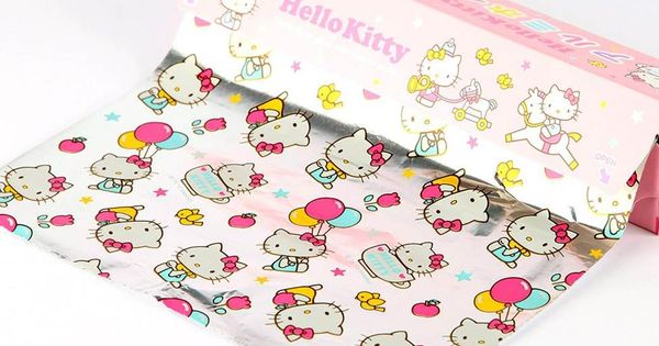 Printed HelloKitty foil for parties, pot lucks and lunchbox surprises!