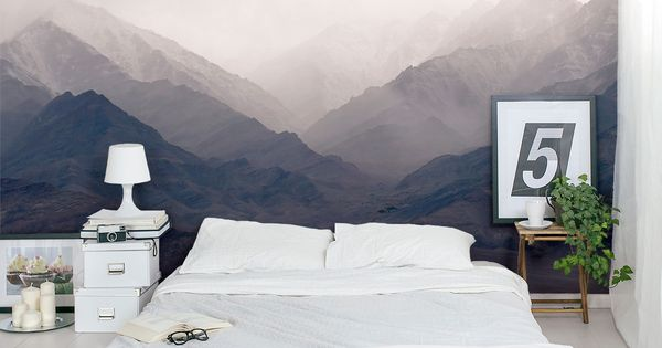 Misty Mountains Wall Mural Architecture Pinterest Wall Murals Walls And Bedrooms