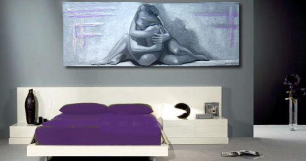 Cuadros modernos desnudos pintura figurativa moderna - Cuadros modernos blanco y negro ...