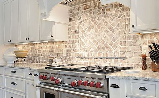 Country Kitchen Like The Light Brick Back Splash And