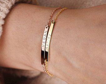 Engraved Bracelets For Women-Personalized bracelet 18K plated Personalized bracelet-Gift for Mom-Custom Coordinates Bracelet