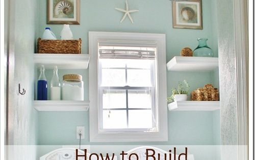 Sand and Sisal: DIY Project Gallery- How to build floating shelves