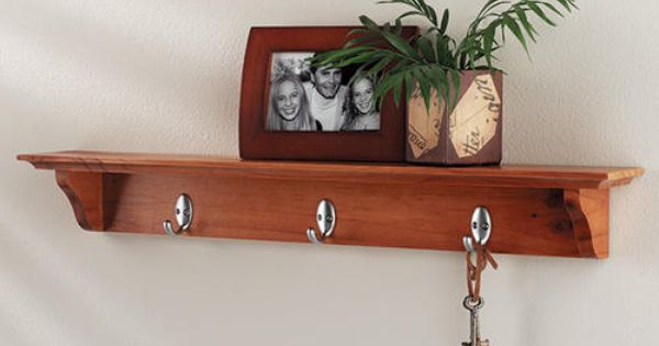 Yorkshire Shelf With Hooks At Menards With Images Traditional Shelves Shelves Wall Mounted Shelves