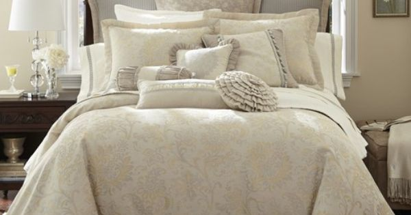 Waterford Lysander Ivory Bedding By Waterford Bedding