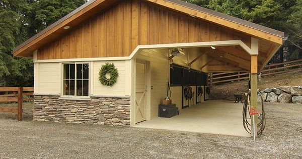 Open Breezeway Barn With Board And Batten Gable Ends