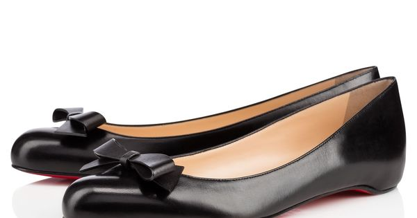 Simplenodo Flat Black Leather by Christian Louboutin