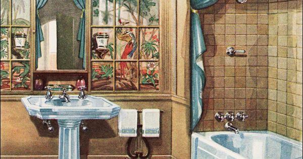 1929 Crane Bathroom Vintage Plumbing Fixtures Modern
