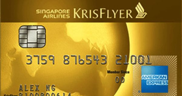 American Express Singapore Airlines Krisflyer Gold Credit Card