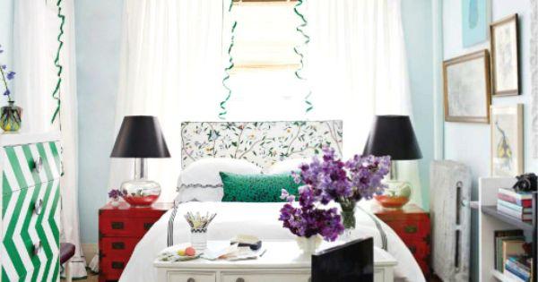 Bedroom area in a studio apartment. Design: Nick Olsen. Great idea!! Desk