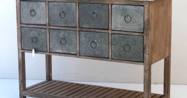 Meuble De Rangement A Tiroirs Table Console Commode Bahut