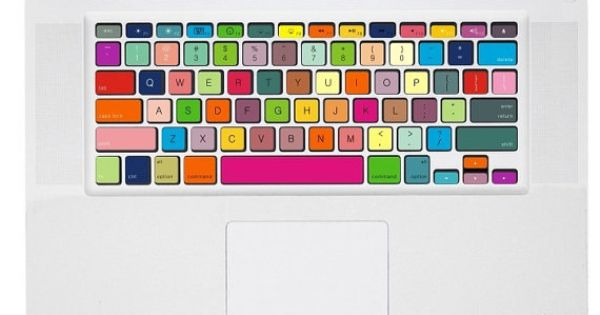 Rainbow -- Macbook Pro Keyboard Decal Sticker Macbook Air Keyboard Decal Apple