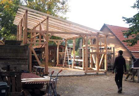 Fachwerk Schuppen Garage Werkstatt Mit Gartenlaube Fachwerk Gewachshaus Hutte Gartenlaube