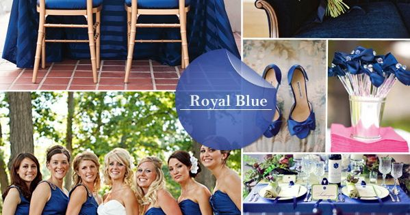 Pantone's beautiful royal blue fall wedding color 2014