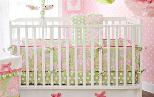 New My Baby Sam Pixie Baby Bedding in Pink Baby Girl Bedding