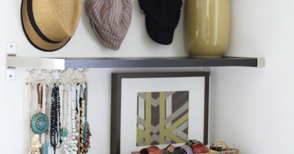Foyer Closet Jewelry : Danielle s small modern cottage jewelry closet and hooks