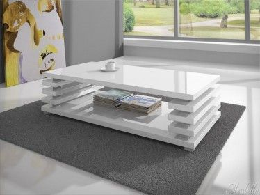 Salontafel En Eettafel Wit Hoogglans.Salontafel Plaza Is Een Modern Strak Designmeubel Deze Tafel Is
